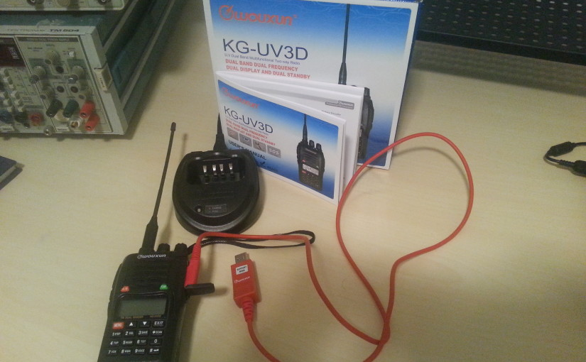 My First Radio: Wouxun KG-UV3D 2m/440MHz Dual Band Radio